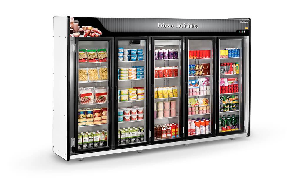 Expositor Auto Serviço para Frios e Laticínios 5 portas - Refrimate